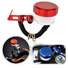 BJMOTO Red Color Dirt Bike Oil Cup CNC Cap Tank FLUID RESERVOIR For BRAKE CLUTCH CYLINDER Lever(China)