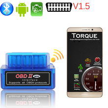 china obd2 scanner v1.5 version super mini elm327 bluetooth android adapter obdii code readers scan tools