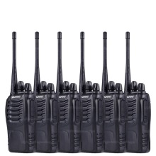 6pcs Baofeng 888s Walkie Talkie 5W UHF 400-470MHZ Handheld Portable Two way Radio BF-888S Ham Transceiver A7154A 1500mAh battery