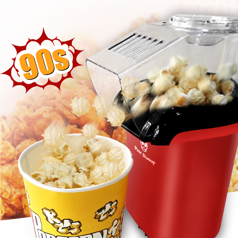 Pink Bunny Mini Household Electric Popcorn Maker Machine Automatic Red Corn Popper Natural Popcorn ship from Russia<br><br>Aliexpress