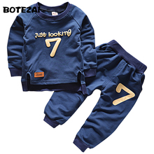 2016 Spring Autumn Children Clothing Boys Girls Keep Warm Long Sleeve Sweaters+Pants Fashion Kids Clothes Sports Suit Girls