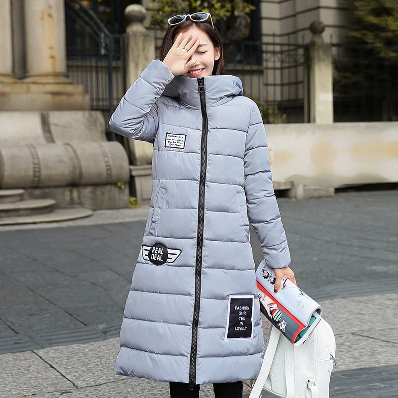 2016 New Korean Winter Women Coat Elegant Pure color Thick Warm Hooded Cotton Jacket High quality Large size Women CoatОдежда и ак�е��уары<br><br><br>Aliexpress