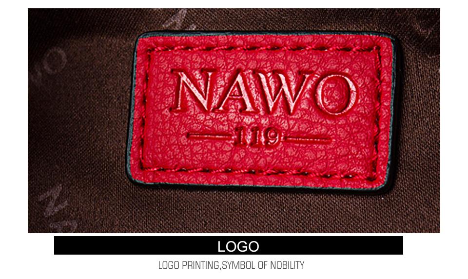 NAWO Famous Brands Women Leather Handbags Designer Women Bag Dot High Quality Shoulder Messenger Bags Luxury Hand Bags Female 9