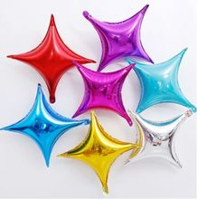 10 inch Four pointed star Shape balloons Multi color Aluminum Foil Balloons Helium Balloon Wedding/Christmas/Supplies Decoration