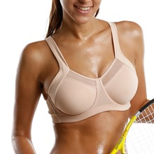 Women's High Impact Underwire Non Padded Powerback Support Sports Bra(China)