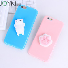 Squishy 3D Phone Case For Iphone 7 Cases Cute Soft Silicone Panda Cartoon Cover For Iphone 7 7 Plus 6 6S 5 5S SE Case Funda Capa