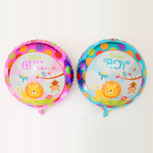 New 20pcs/lot 18inch Foil balloons baby boy&baby girl birthday party decoration animal pet lion monkey zoo baby shower baloes