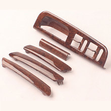 3B1 867 171 F For VW Passat B5 Cherry Wood Door Handle Window Switch Bracket Control Panel Base Trim Cover 5 Pieces Auto Parts