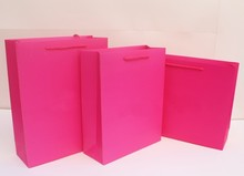 1.17  Pink Packing Paper Bags for Gifts Pink Kraft Paper High Quality Shopping Gift Bag with Handles 26*10*32cm
