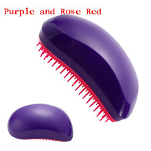 1 Pcs Hair Wig Handle Tangle Comb Cute Professional Extension Hair Brush Portable Anti-static Tangle Hair Brush Loop Brush Bo