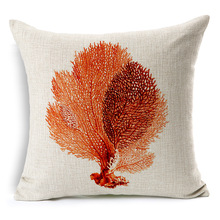Marine Starfish Seahorse Printed Cushion Covers Decorative Pillows Housse De Coussin Square Sofa Funda Cojin Kussenhoes(China)