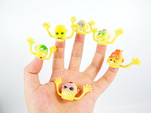 30pcs/lot Novelty toy old man model finger puppets to tell story for kids capsule doll for kids playing a joke(China)