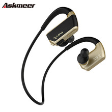 Askmeer IPX4 Waterproof Mp3 Music Player+Wireless Bluetooth Handsfree Headset with Mic Sports Running Earphone Earbuds for Phone