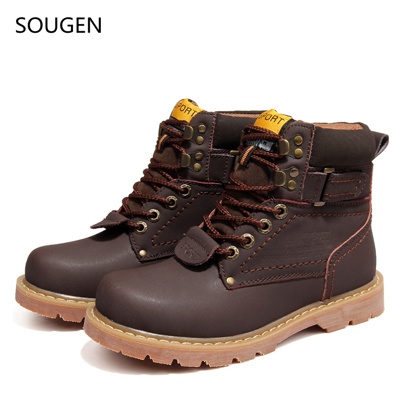 2017 Winter Shoes Men Boots Leather Motorcycle Vintage Snow Male Military Chelsea Suede Timber Brand Italians Genuine Ankle<br><br>Aliexpress