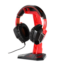 Gaming Headphone Stand Earphone Holder Professional display rack Headset Hanger Bracket Red