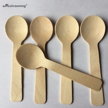 3000x Wholesale Disposable Wooden Baby Spoon Grade A 10cm Flatware Cutlery Camping Party Cake Decoration Wedding Baby Shower Bar
