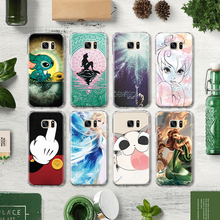 Mermaid Cartoon Characters Cat Pattern TPU Phone Case for Samsung Galaxy J3 J5 J7 A3 A5 2015 2016 2017 Silicone Case Capa Para(China)