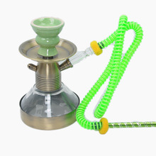 Narguile chicha cachimbo Red Small shisha hookah in glass smoking pipe bottle polarized one hose with aluminium handle