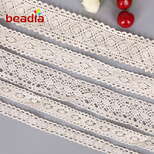 5yard High Quality Crochet Knitting Cotton Lace Trim Fabric Ribbon Sewing Material Accessories DIY Scrapbooking Embellishment 30