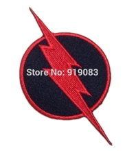 "3"" REVERSE FLASH SUPERHERO DC Comic Movie TV Series Costume Embroidered iron on sew On patch Tshirt TRANSFER MOTIF APPLIQUE"