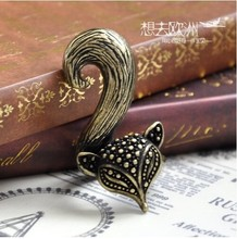 2017 The latest fashion retro charming charm cute little fox ring jewelry factory free shipping