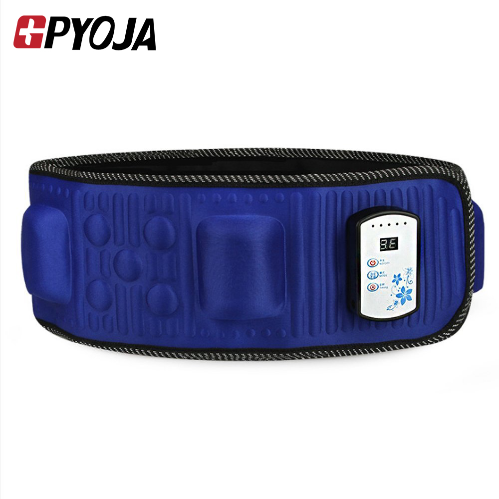 Portable Electric Fitness Vibrating 18 Modes Massager Slimming Belt Infrared Heating Fat Burning Weight Losing 5 Times Effect<br>