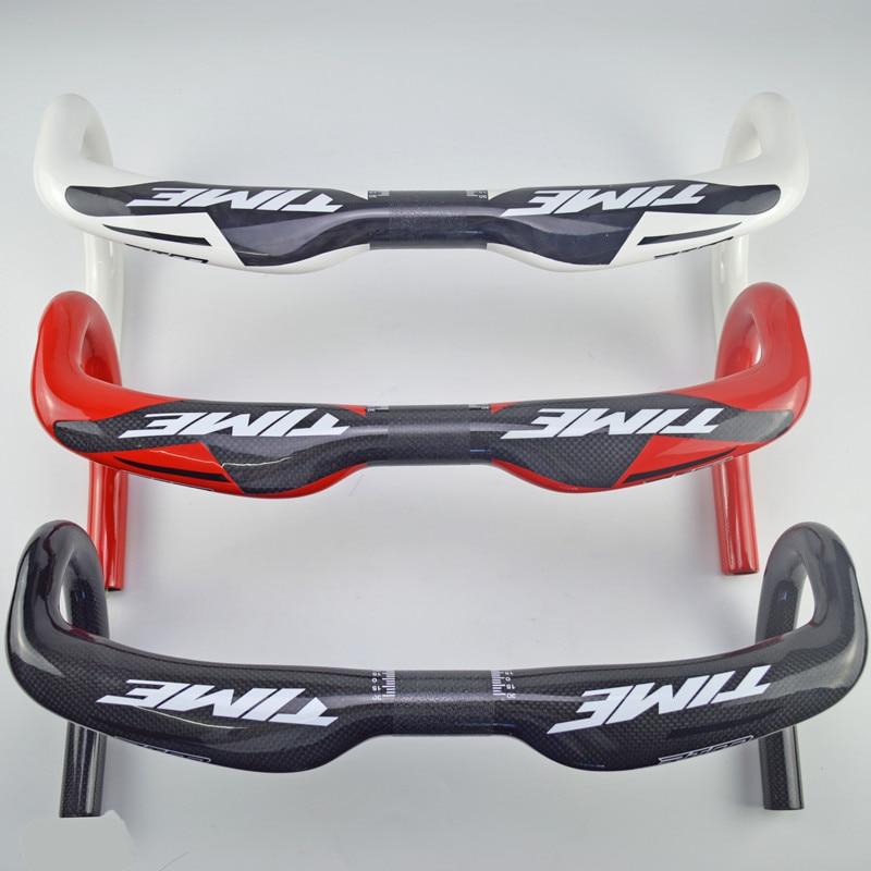 Road handlebar 3k carbon fiber bike handlebar carbon carbon road bicycle handlebar glossy 31.8*400/420/440mm bike accessories<br>