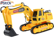 New RC Excavator 8 CH RC digger,r/c excavator,Dig Function with light remote control shovelloader Model electronic toy(China)