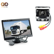DC 12-24V Bus Truck Parking Camera Monitor Assistance System, HD 7 Inch Car Monitors With Rear View Camera 6~20M RCA Video Cable