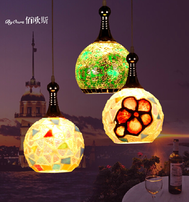 Creative small chandelier lamp aisle entrance hallway light Mediterranean personality single head bedside lamp chandelier bar<br><br>Aliexpress