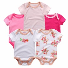 Free Shipping Boys&Girls Baby Rompers Short Sleeve Cotton O-Neck 0-12M Novel Newborn Roupas de bebe Baby Clothes