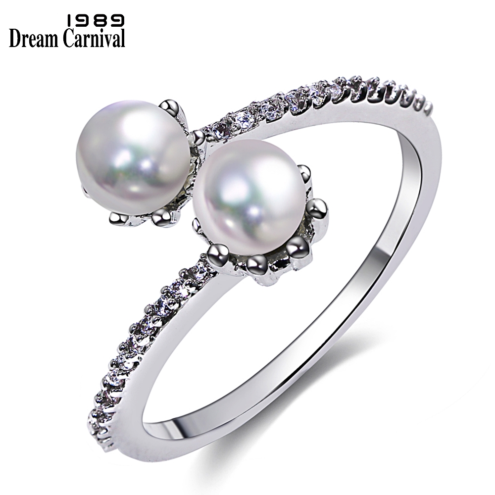 small pearls ring for women