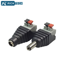 DC Balun Connector 5.5x2.5 mm Balun Male Plug+ Female Jack CCTV Power AV Wire Connector AV Wire Terminals DC Balun Plug&Jack Set(China)