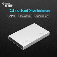 ORICO 2518S3-SV Aluminum USB3.0 5Gbps 2.5 inch Hard Drive Enclosure Support 7mm & 9.5mm - Silver(China)