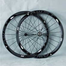 38mm AWST wheels 50m carbon road Wheels rear matte carbon clincher wheelset glossy sticker 3k 700c bicycle wheels