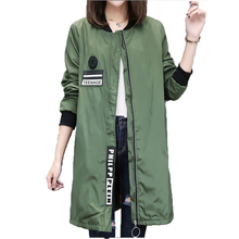 2017 Trench Coat For Women Fashion Casual Long Sleeve Zipper Spring Coat Casaco Feminino Medium Long Army Green Overcoat Coats