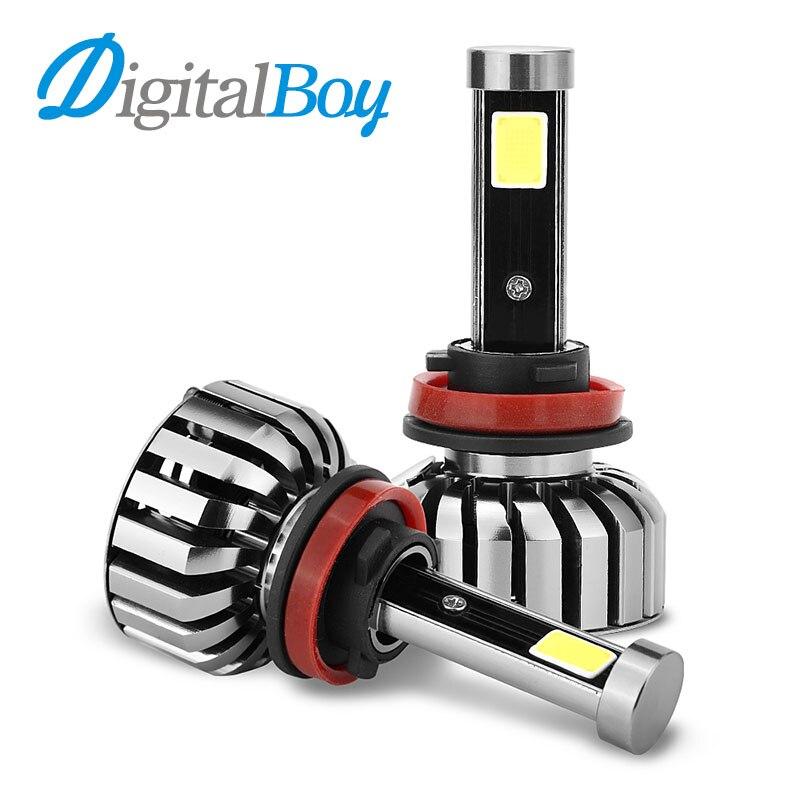 DIGITALBOY N7 Car LED Headlight H8 H9 H11 LED Bulbs 80W 8000LM LED Headlights Auto Headlamp Automobile Fog Light Car Front Light<br>