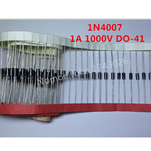 High quality 100PCS 1N4007 4007 1A 1000V DO-41 High quality Rectifier Diode Professional terminal ic ...(China)
