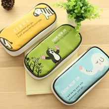 Boys and Girls Multifunctional Creative Large Capacity Pencil  Bag PU Leather School Case Pencil Case Stationery School Supplies