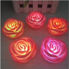 LED  Romantic 7 color changed  Rose Flower Night Lights Festival  Atmosphere Lamp For US RU BR