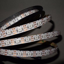4m DC5V 60leds/m(60pixels) WS2812(6pin) led digital strip,waterproof by silicon coating,IP65;WHITE PCB
