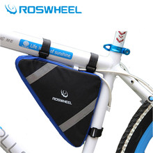 ROSWHEEL Road Bicycle Top Tube Saddle Bag MTB Bike Accessories Triangle Tools Storage Bag Reflective Cycling Front Frame Pouch(China)