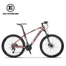 EUROBIKE EUROBIKE 26 Inches Carbon Fiber 27speed MOUTAIN BIKE Double Brake Mens BICYCLE(China)