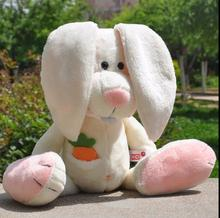 25cm Factory direct sale Wholesale NICI rabbit doll carrot rabbit plush toy hat white rabbit for birthday gift 1pcs