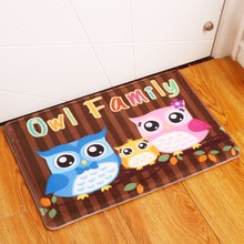 Buy New Anti-Slip Carpets Animal Owl Print Mats Bathroom Floor Kitchen Rugs 40X60 50X80 cm for $15.19 in AliExpress store