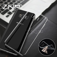 ZNP Ultra Thin Clear Soft TPU Cases For Samsung Galaxy S7 S6 Edge S8 Plus Case Transparent Silicone Cases For Samsung S7 S6 Case(China)