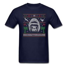 Funny Men's Harambe Ugly Sweater Organic Cotton t-shirt Man Classical Round Neck Shirts Boys' Summer Short Sleeves t shirt(China)