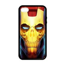 Skull Head Ironman Custom cell phone cover bags case for Iphone 4S 5 5S 5C 6 Plus Samsung galaxy S3/4/5/6/7edge+ Note 2 3 4 5