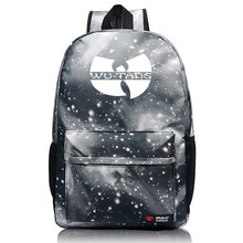 WU TANG hip hop skateboard streetwear Manga Printed 2017 backpack for teenagers School bags Unisex mochilaS For Girls and boys