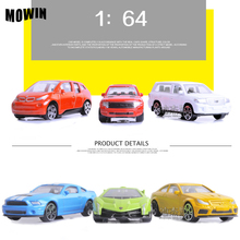 MOWIN 6pcs/lot 1:64 Movie Fast Furiou Mini Diecasts Racing Car Boys Auto Collection Scooter Auto Kits Baby Toy Birthday Surprise